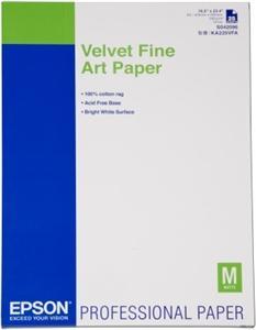 Velvet Fine Art Paper, DIN A2, 260g/m?, 25 listů