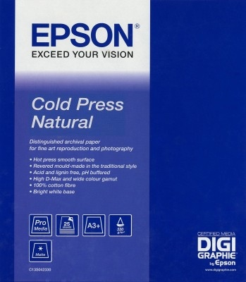 EPSON Cold Press Natural Paper, roll 44