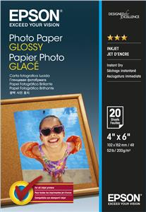 EPSON Photo Paper Glossy 10x15cm  20 listů