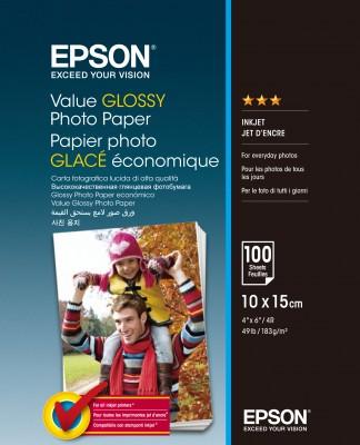 EPSON Value Glossy Photo Paper 10x15cm 100 sheet