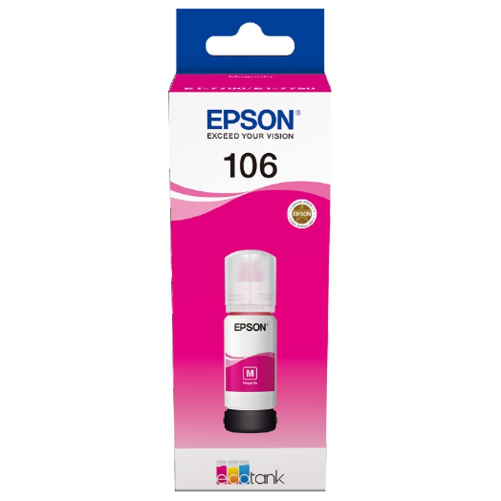 106 EcoTank Magenta ink bottle
