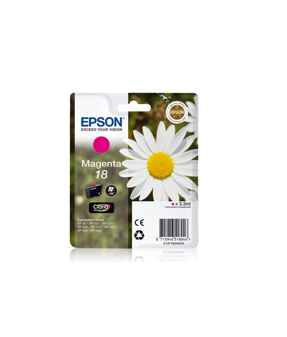 Epson T1803 Singlepack 18 Claria Home Ink Magenta