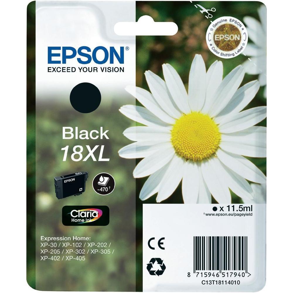 Epson T1811 Singlepack 18XL Claria Home Ink Black