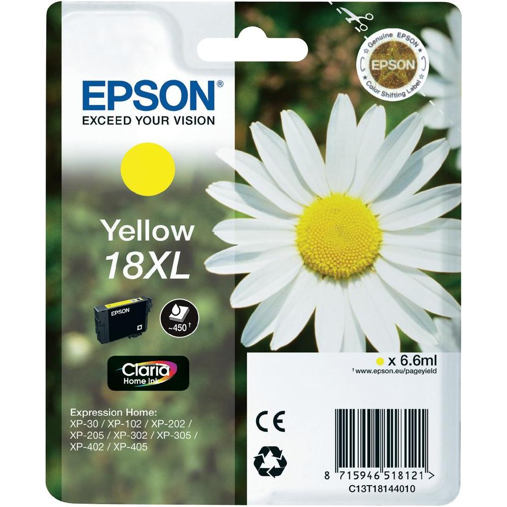 Epson T1814 Singlepack 18XL Claria Home Ink Yellow