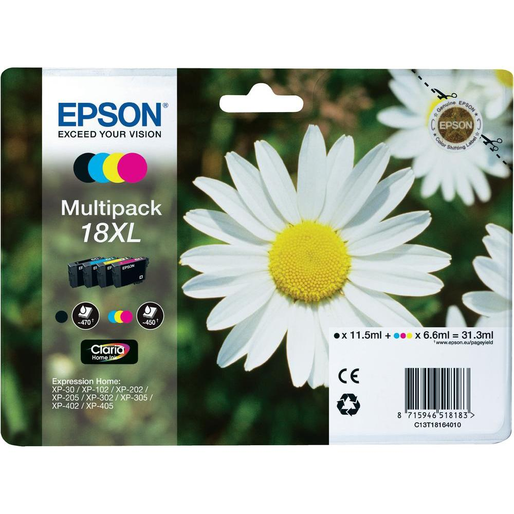 Epson T1816 Multip. 4-colours 18XL Claria Home Ink