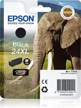 Epson Singlepack Black 24XL Claria Photo HD Ink