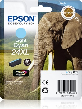 Epson Singlepack L. Cyan 24XL Claria Photo HD Ink