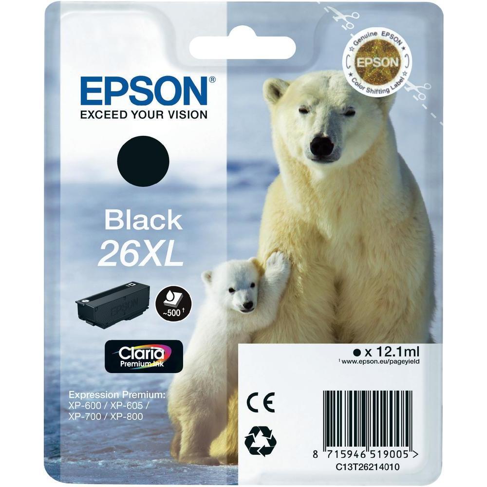 Epson T2621 Singlepack 26XL Claria Premium Black