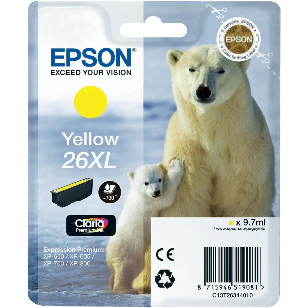 Epson T2634 Singlepack 26XL Claria Premium Yellow