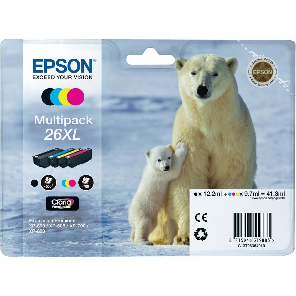 Epson T2636 Multip. 4-colours 26XL Claria Premium