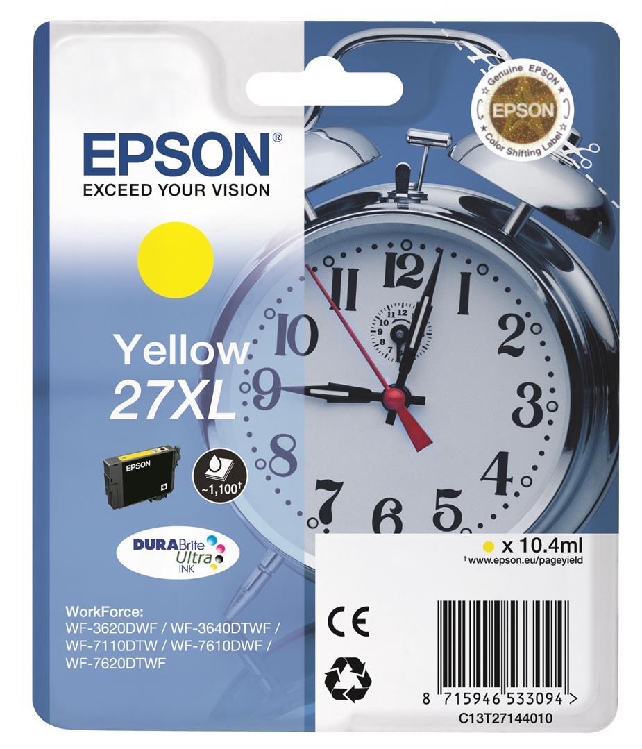 EPSON Singlepack Yellow 27XL DURABrite Ultra Ink