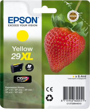 EPSON Singlepack Yellow 29XL Claria Home Ink