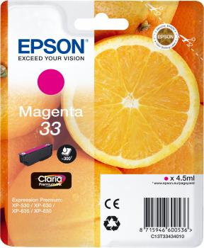 EPSON Singlepack Magenta 33 Claria Premium Ink