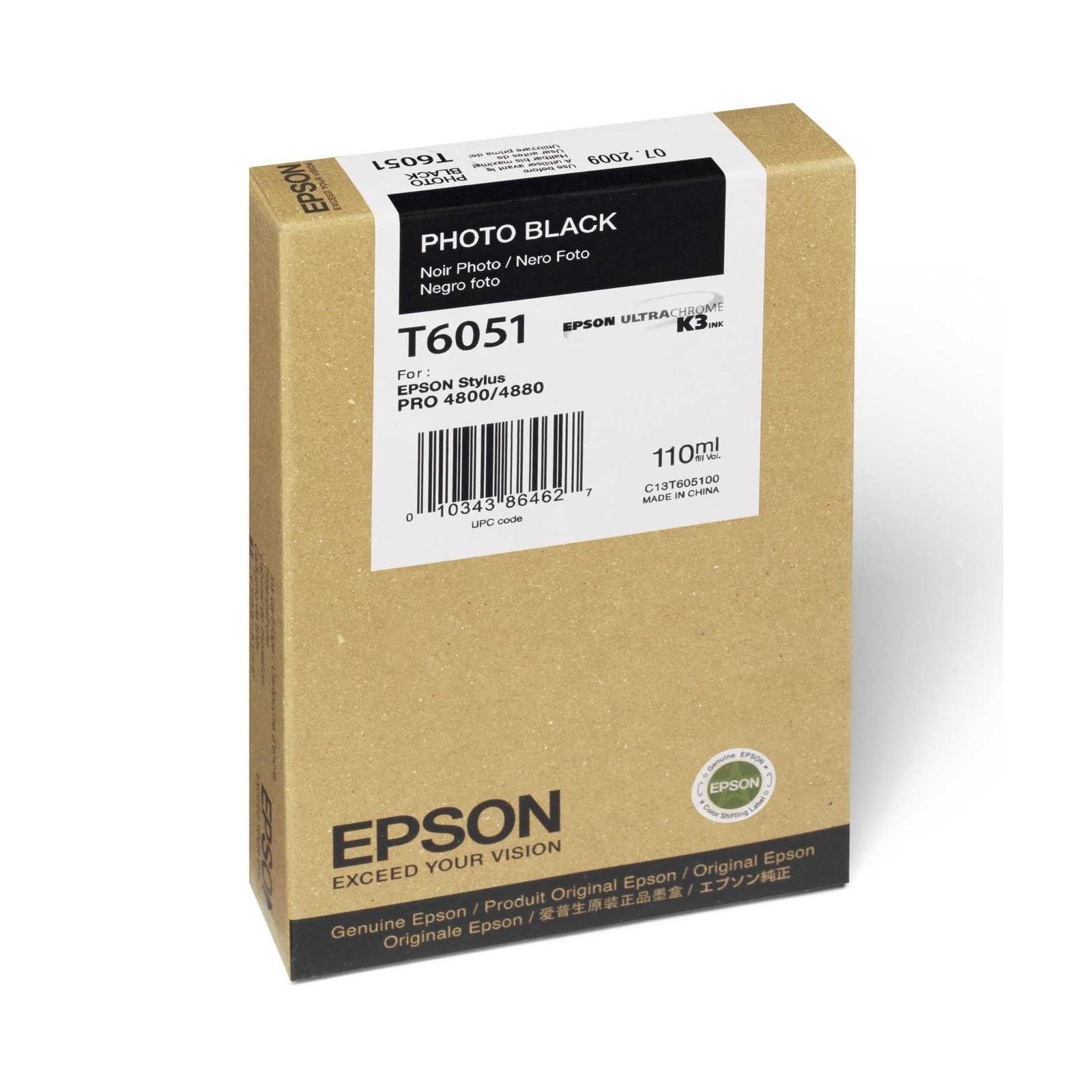 Epson T605 110ml Photo Black