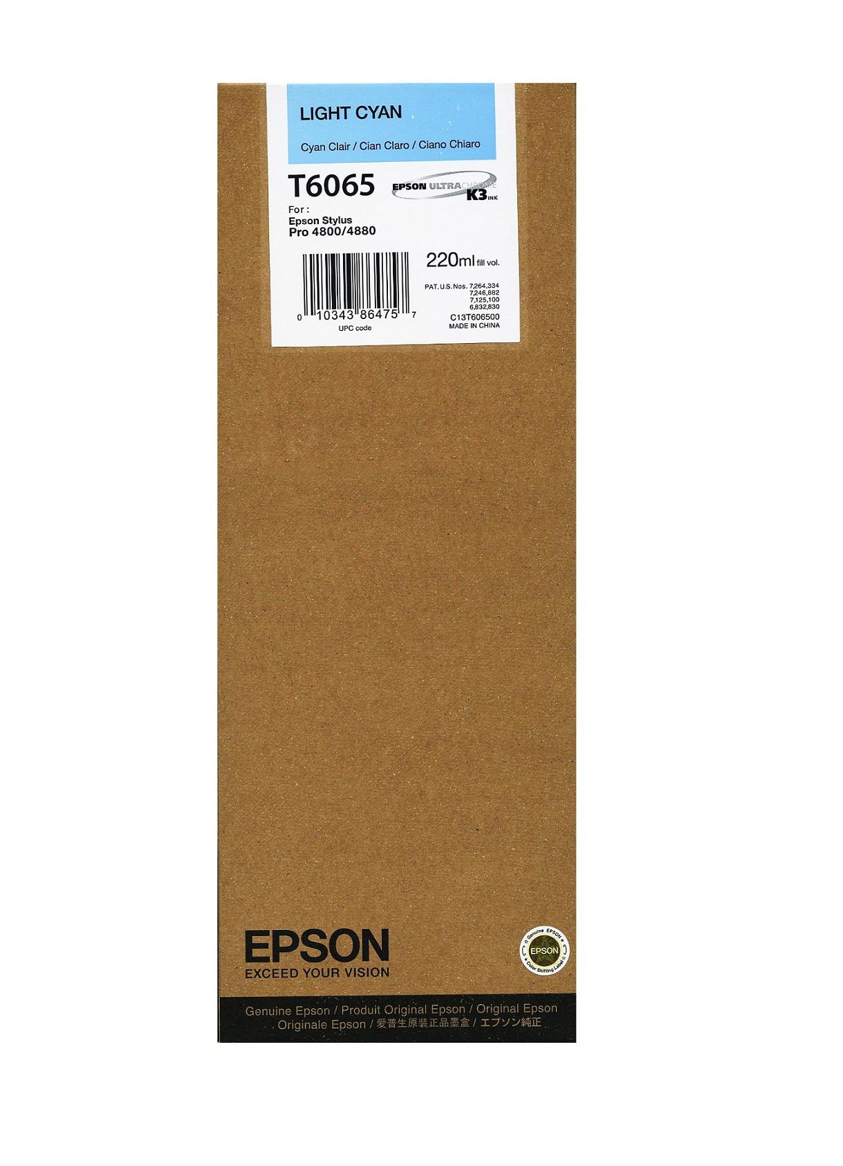 Epson T606 Light Cyan 220 ml