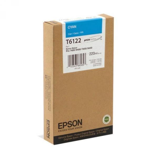 Epson T612  220ml Cyan
