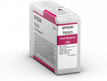 Epson Singlepack Photo Vivid Magenta T850300 UltraChrome HD ink 80ml