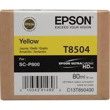 Epson Singlepack Photo Yellow T850400 UltraChrome HD ink 80ml