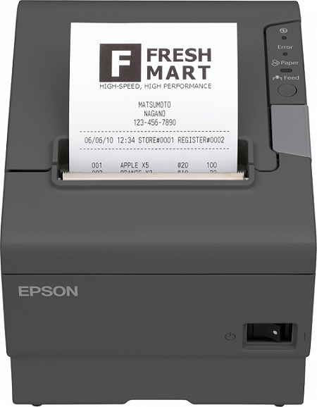 EPSON TM-T88V (041): USB, RS232,tmavá, bez zdroje - C31CA85041