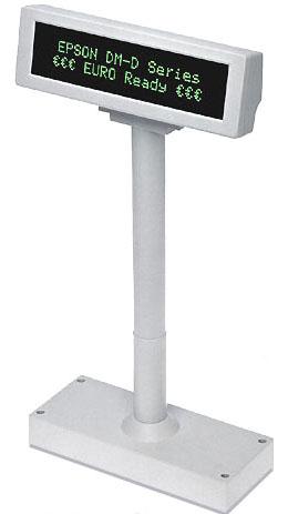 EPSON VFD zák.display DM-D210, 20x2, na noze, bílý