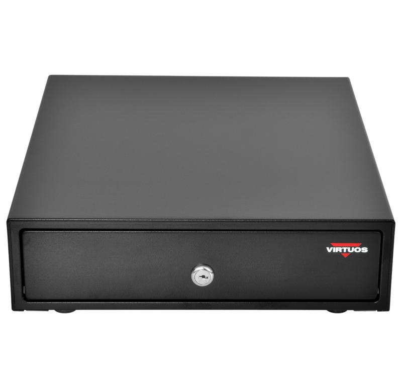 Pokladní zásuvka mikro EK-300C - s kabelem, pořadač 3/4, 9-24V, černá - EKN0111