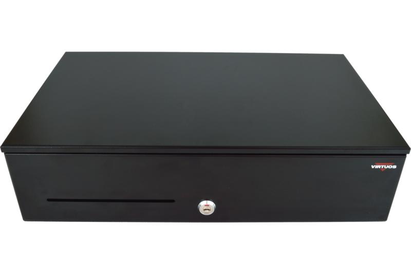 Pokladní zásuvka SK-500C - s kabelem, pořadač 6/8, 9-24V, černá - EKN0110