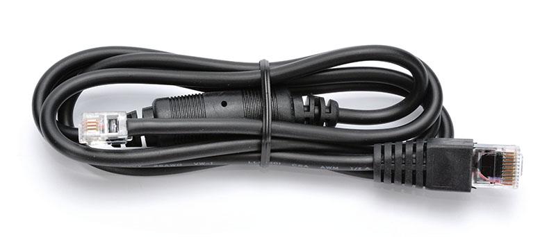 Kabel RJ10 24V pro pokladní zásuvku a pokladnu Euro 500TX, 1,1 m, černý