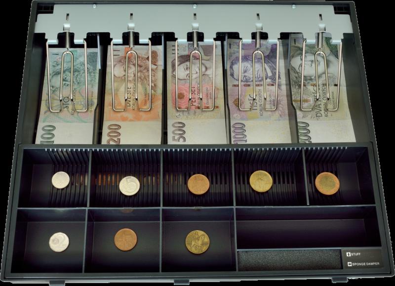 Plastový pořadač na peníze pro C425, kovové držáky bankovek - EKN9020