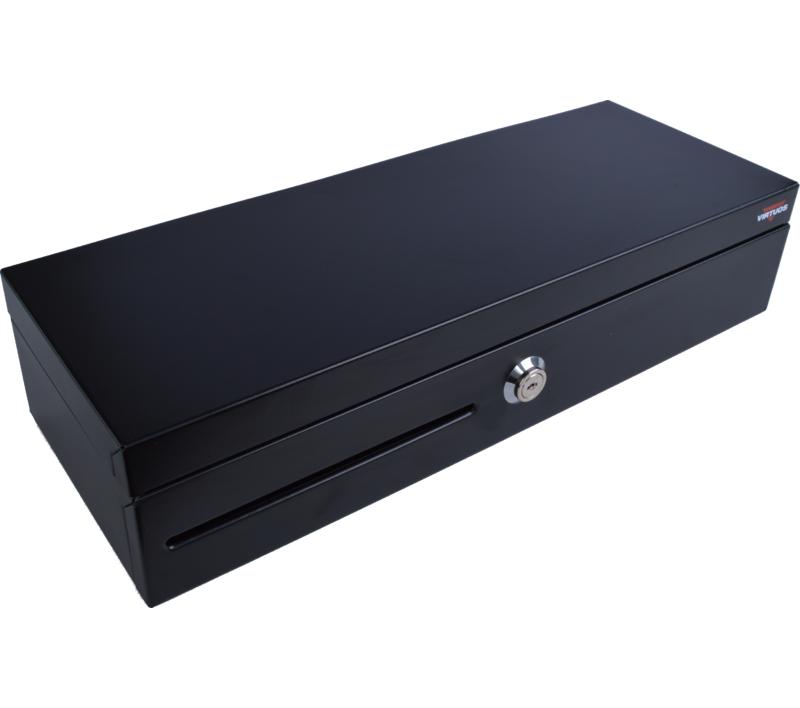 Pokladní zásuvka flip-top FT-460C1 - s kabelem, bez zamykatelného krytu, 9-24V, černá - EKN0008