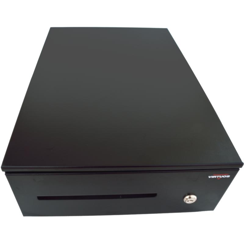 Pokladní zásuvka SK-325C - s kabelem, pořadač 6/8, 9-24V, černá - EKN0109