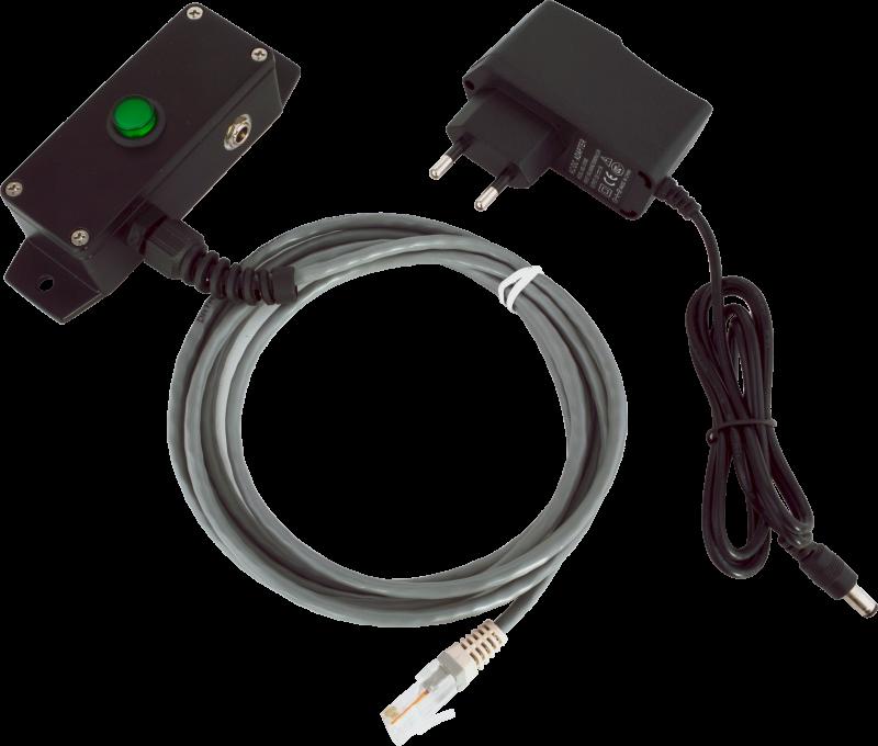 Tlačítko pro otvírání pokladních zásuvek Virtuos, kovové s kabelem