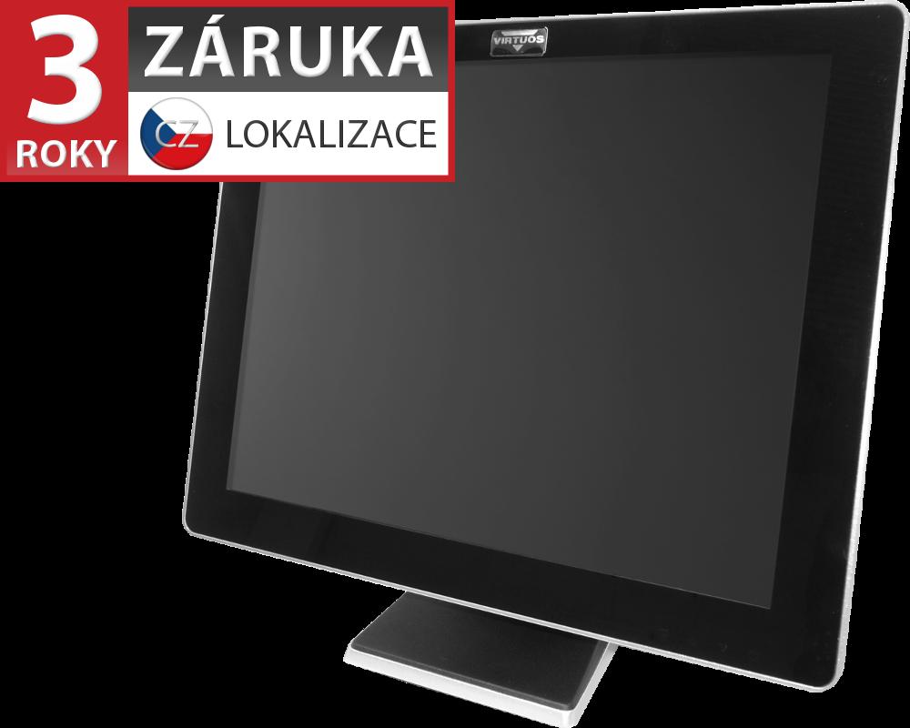 17'' LCD LED dotykový AerMonitor AM-1017, rezistivní, USB