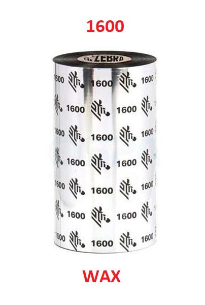 Zebra TT páska Wax šířka 110mm, délka 450m - 01600BK11045