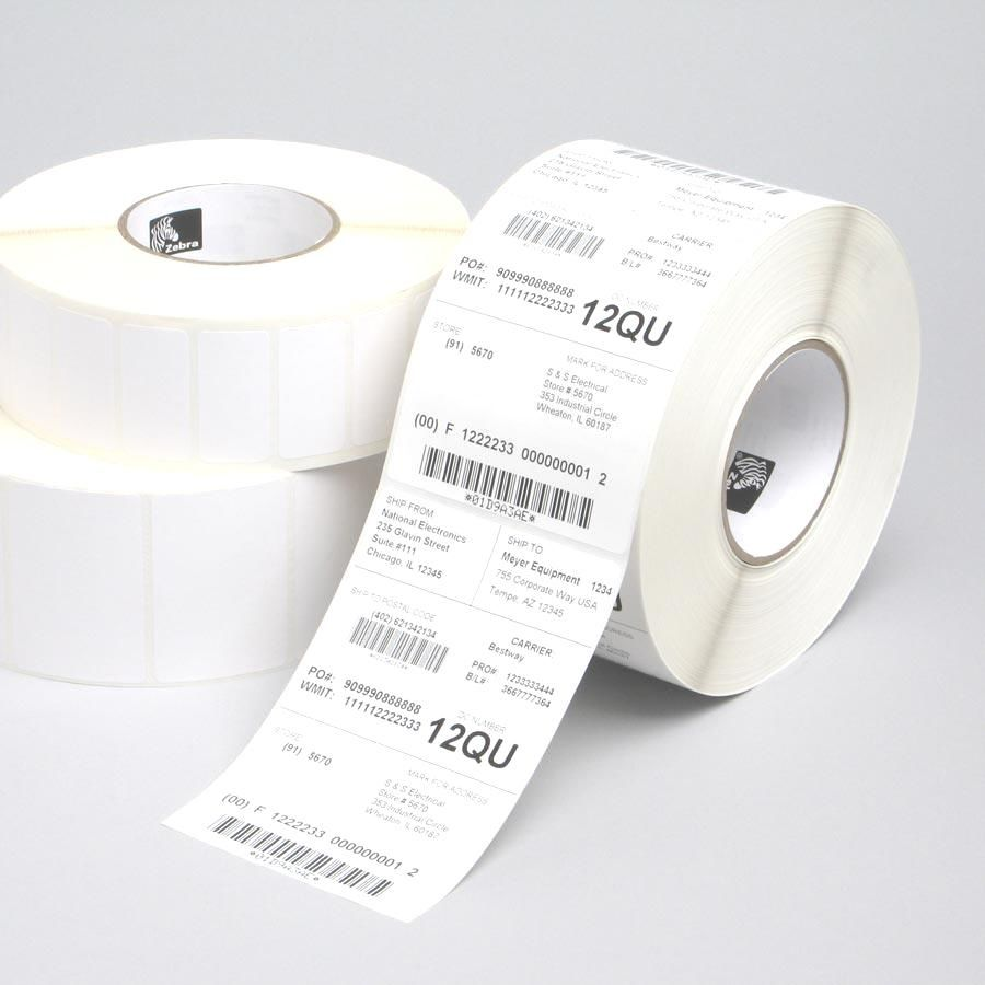 Z-Select 1000T, Midrange, 76x38mm, 3,634 labels for roll, 6 rolls in box. - 880018-038