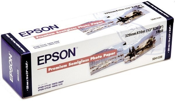EPSON Premium Semigl. Photo Paper, role 329mmx10m