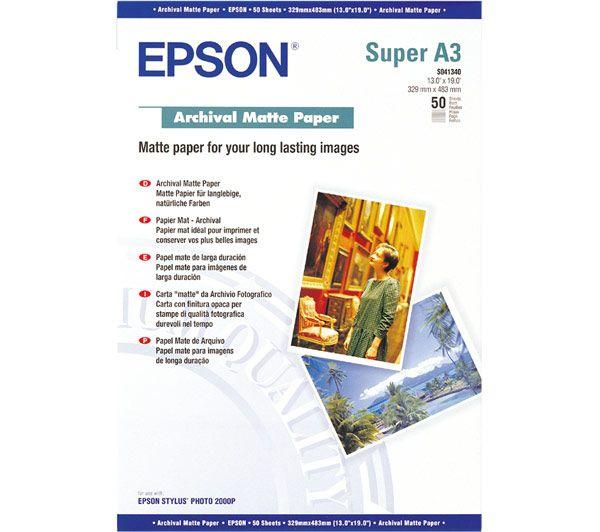 EPSON A3+, Archival Matte Paper (50listů) - C13S041340