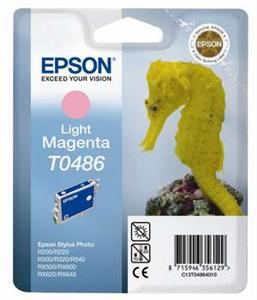 EPSON Ink ctrg Light Magenta RX500/RX600/R300/R200  T0486