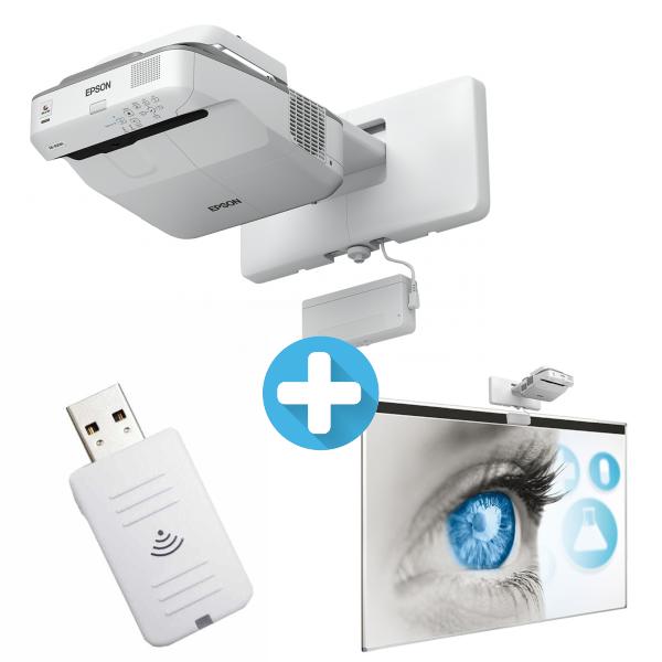 3LCD EPSON EB-680Wi WXGA 3200 Ansi 14000:1 + Tabule Xertec + Wifi ELPAP10
