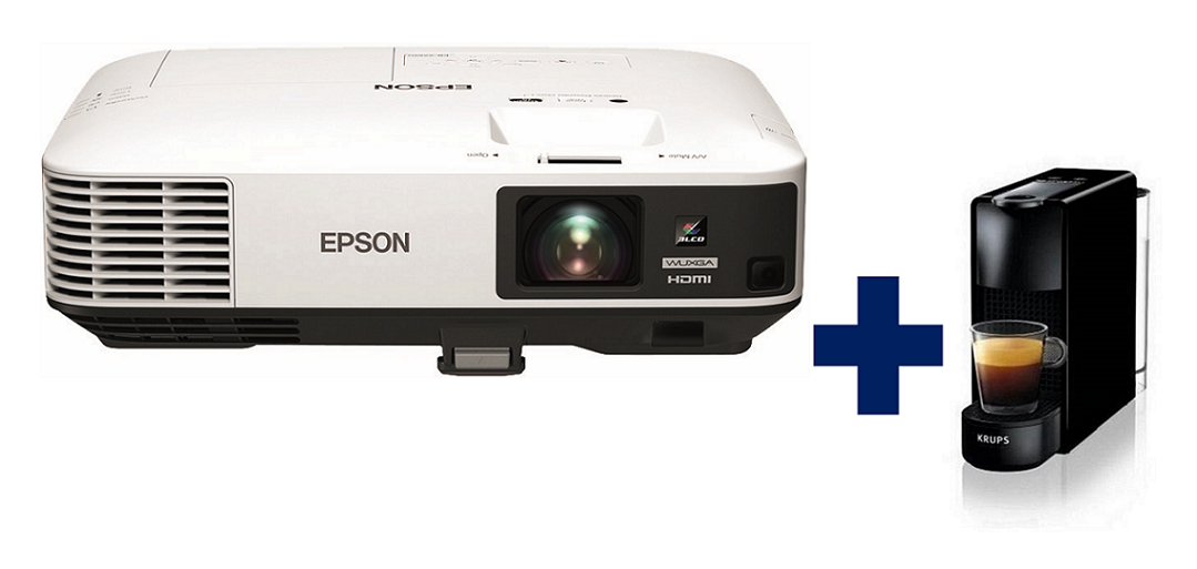 3LCD EPSON EB-2265U WUXGA 5500 Ansi 15000:1 + Espresso Krups Nespresso Essenza mini