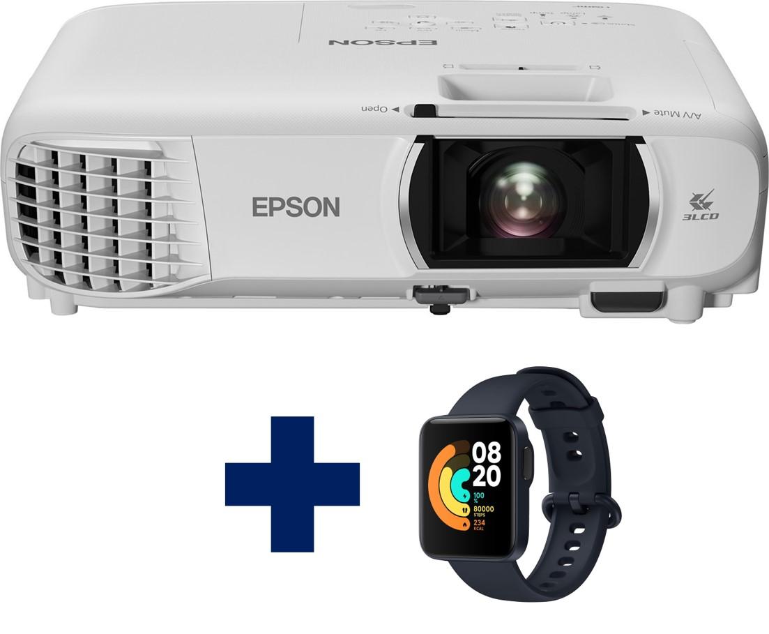 3LCD Epson EH-TW750 Full HD 3400 Ansi, WiFi + Chytré hodinky Xiaomi Mi Watch Lite - modré - V11H980040