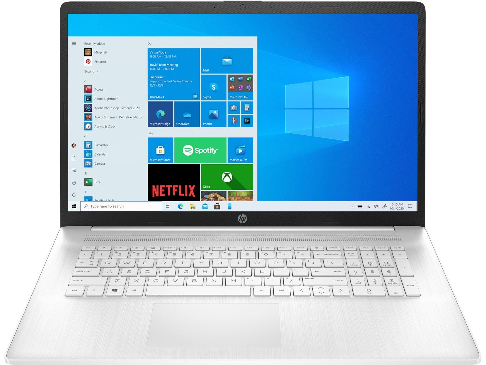 HP Laptop 17-cn0003nc/Pent.S.N5030/8/1+256/W10/Wh. - 4A6L1EA#BCM