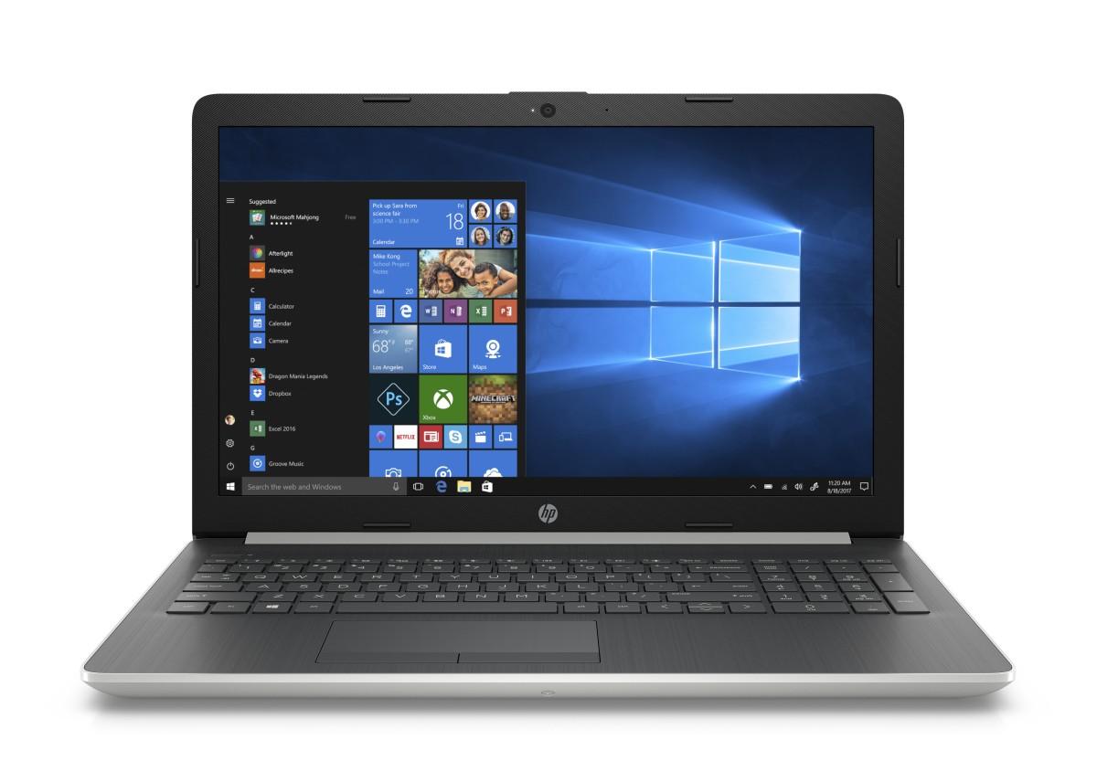 HP 15-da0003nc i3-7020U /4GB/1TB+128SSD/DVD/2RServis /W10-silver