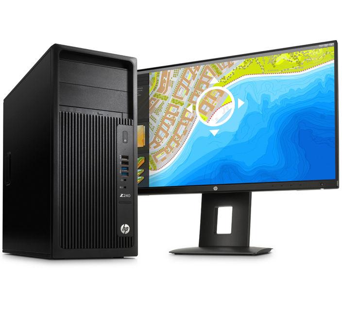 HP Z240 TWR E5-1225v5/8GB/1TB/DVD/NV/3NBD/7+10P