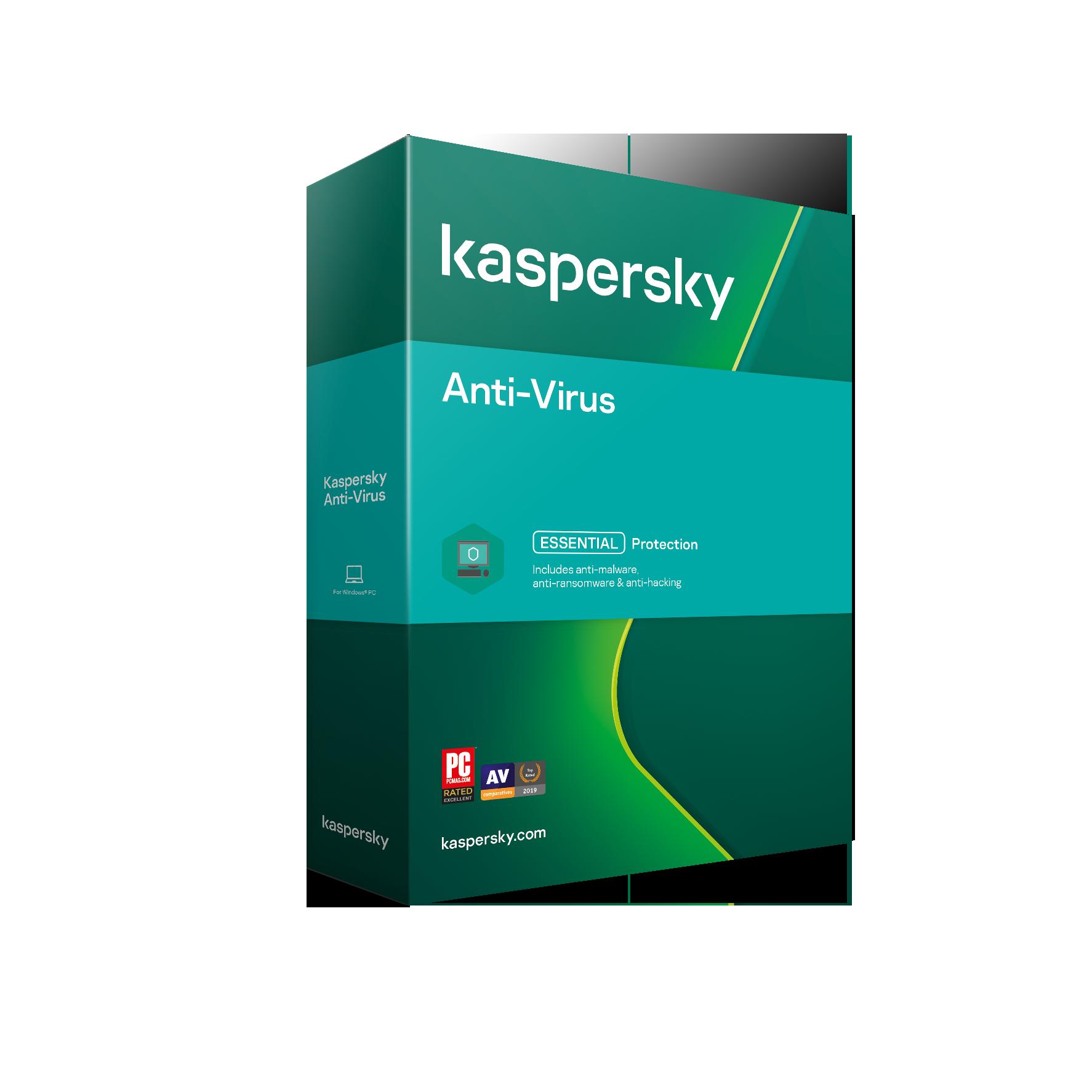 Kaspersky Anti-Virus 1x 1 rok Nová 2021 BOX - KL1171O5AFS-21MSBKSK