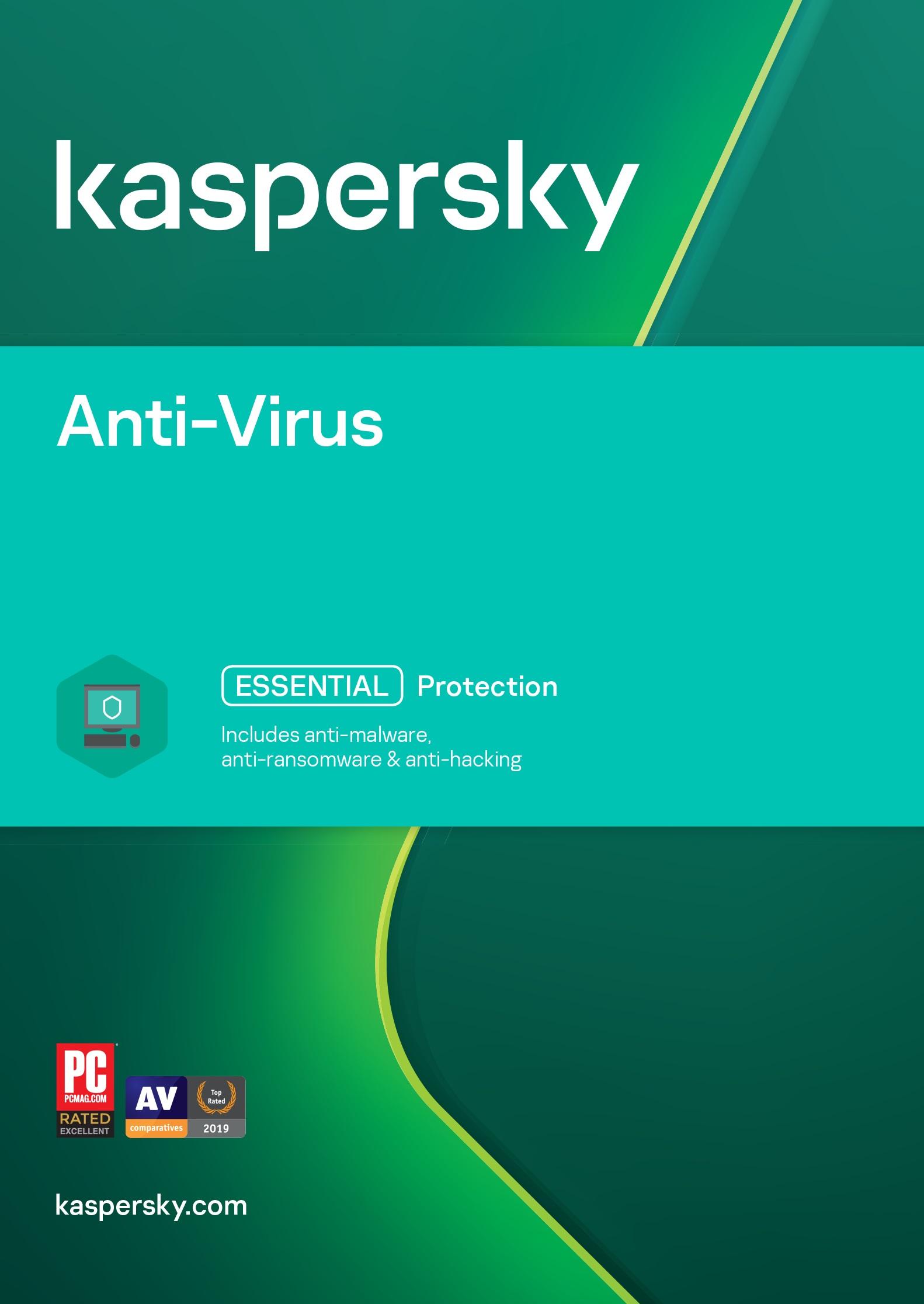 ESD Kaspersky Anti-Virus 1x 1 rok Nová - KL1171OCAFS