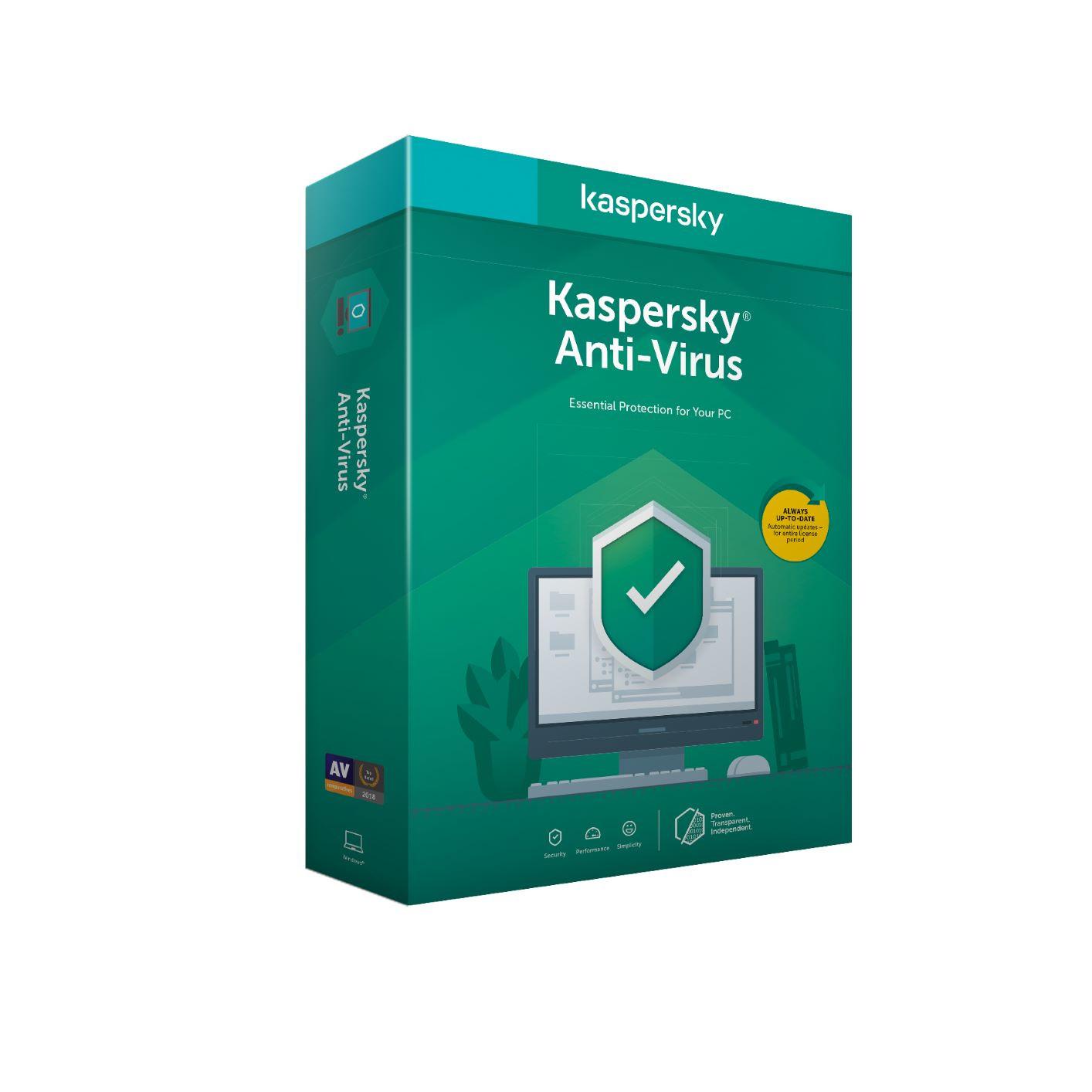 Kaspersky Anti-Virus 5x 1 rok Nová