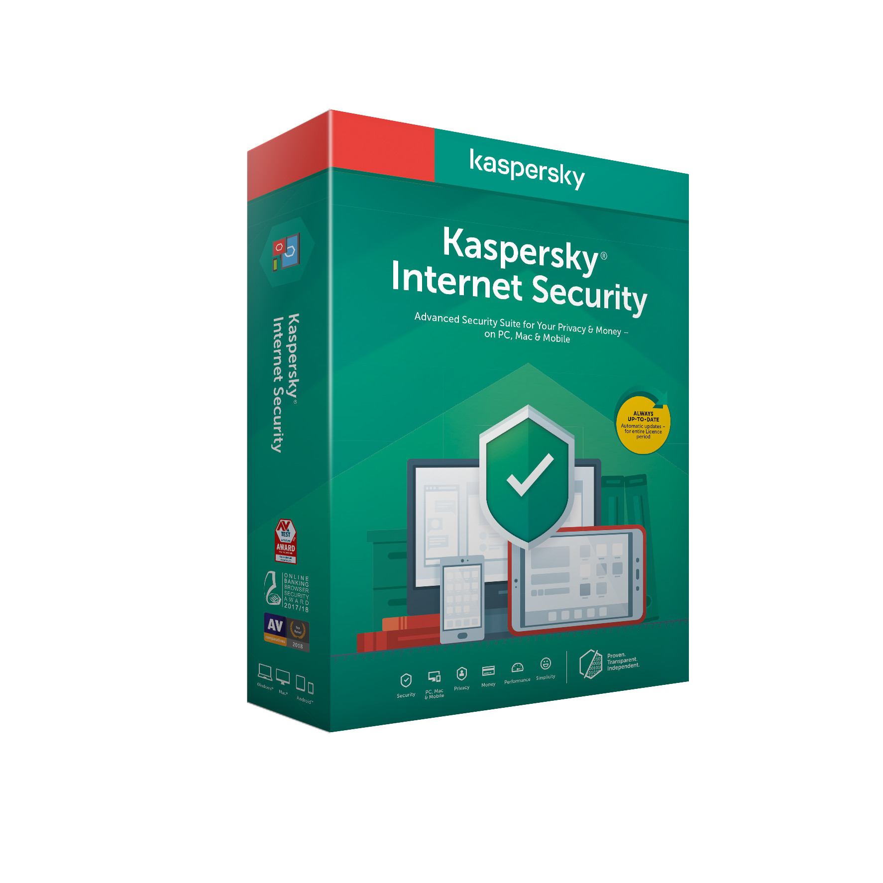 Kaspersky Internet Security 3x 1 rok Nová