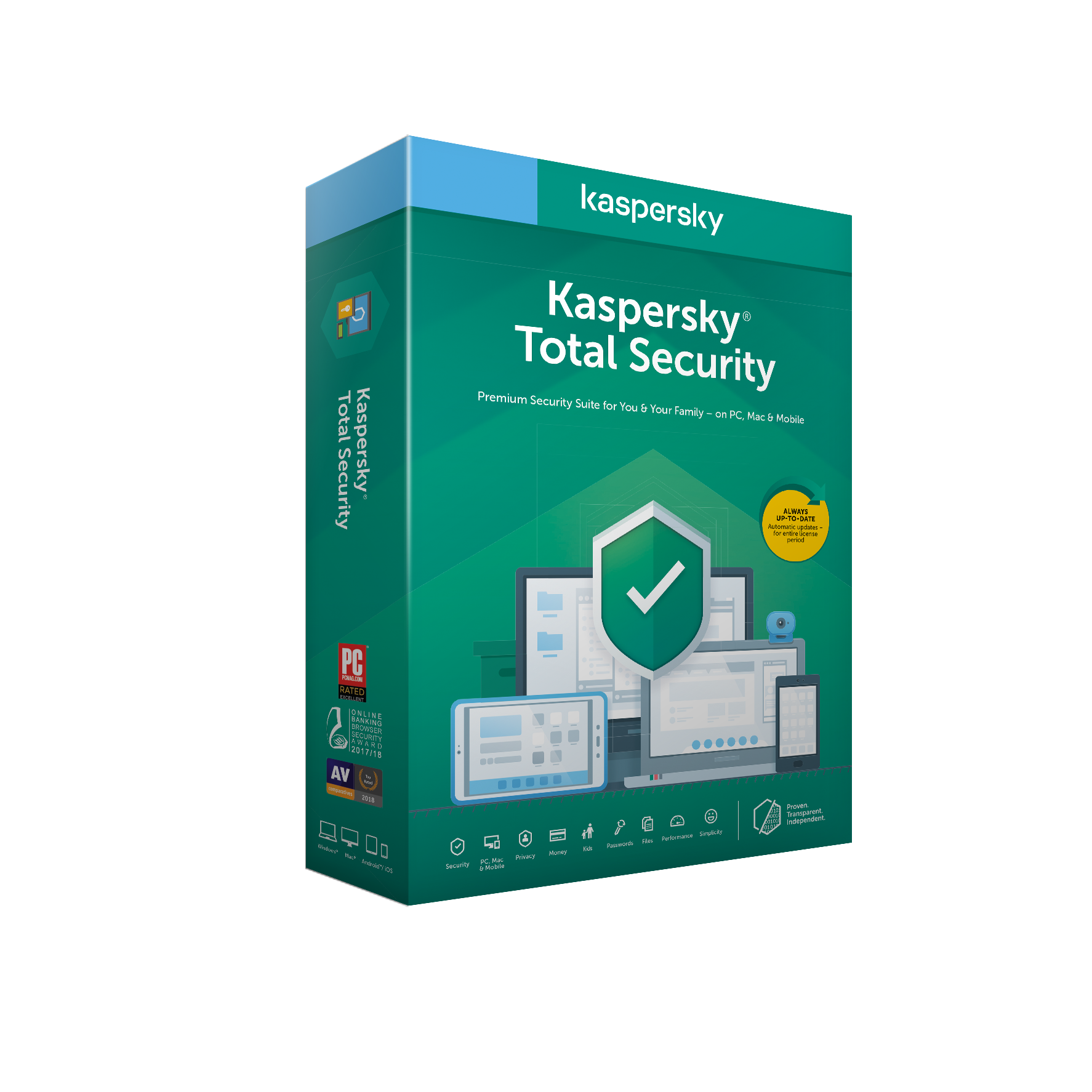 Kaspersky Total Security 3x 2 roky Nová