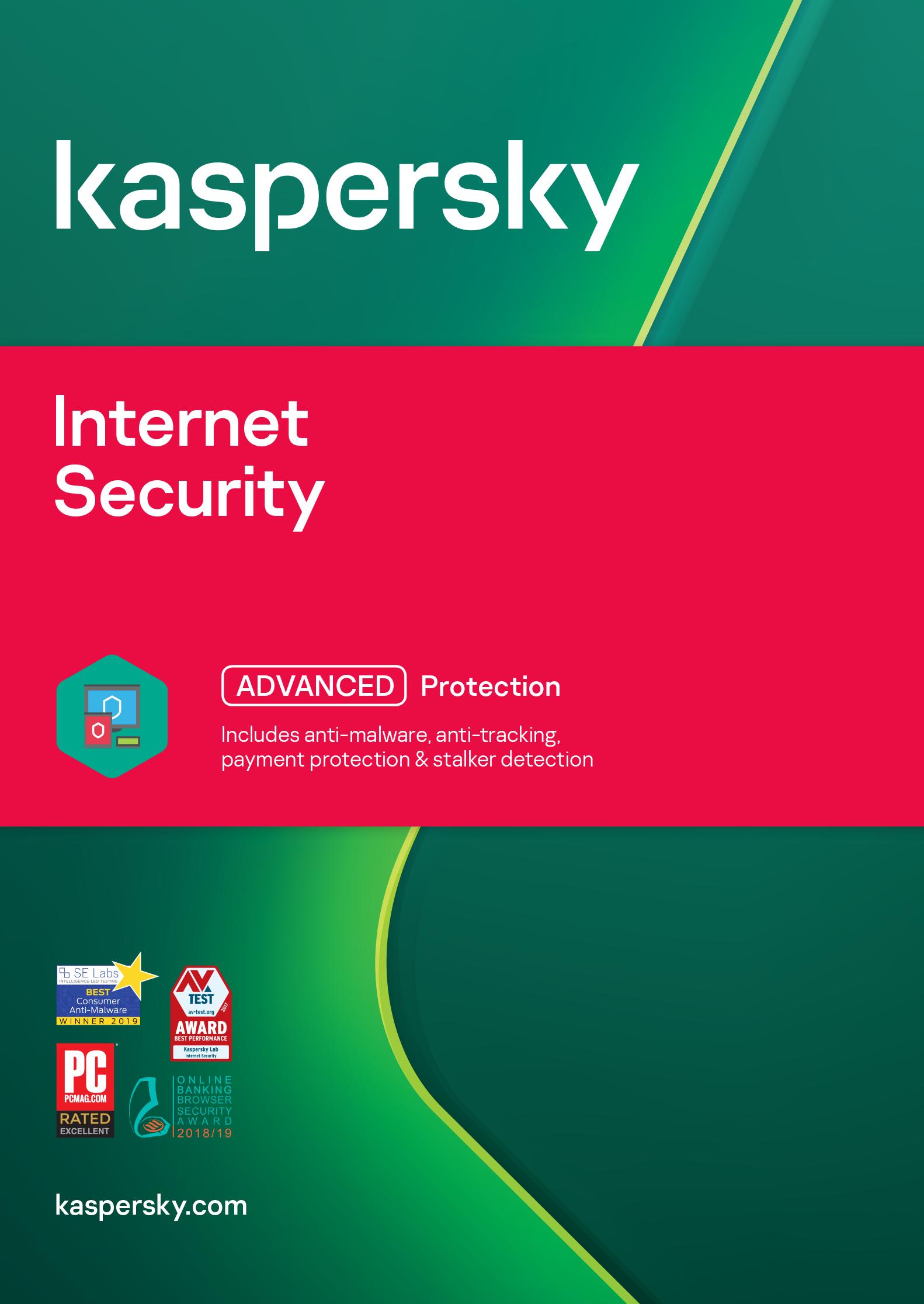 ESD Kaspersky Internet Security 3x 1 rok Obnova - KL1939OCCFR
