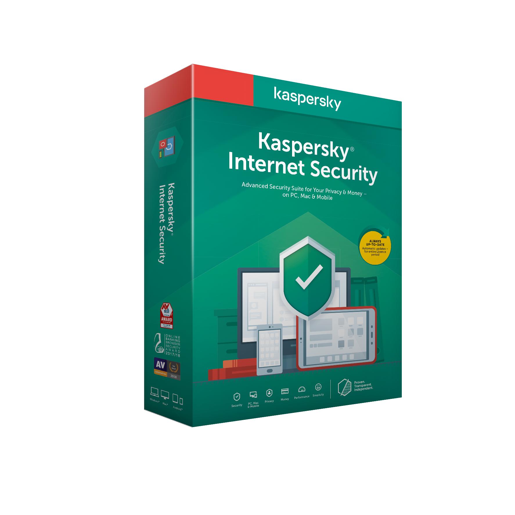 Kaspersky Internet Security 3x 2 roky Obnova